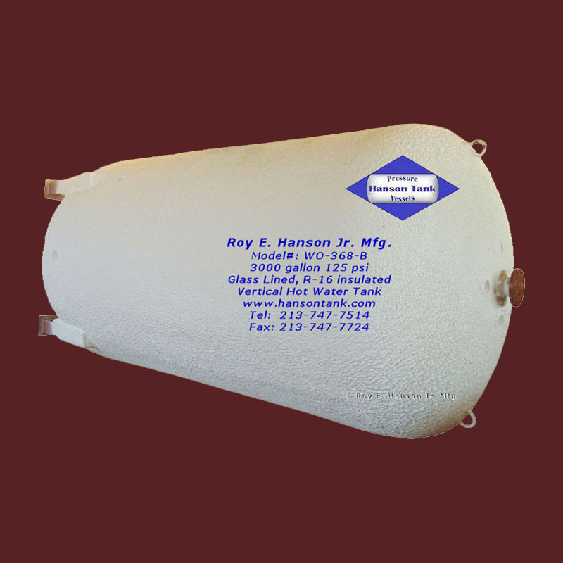 WO-368-B 3000 gallon hot water tank