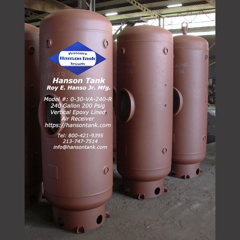 0-30-VA-240-R 240 gallon epoxy lined tank