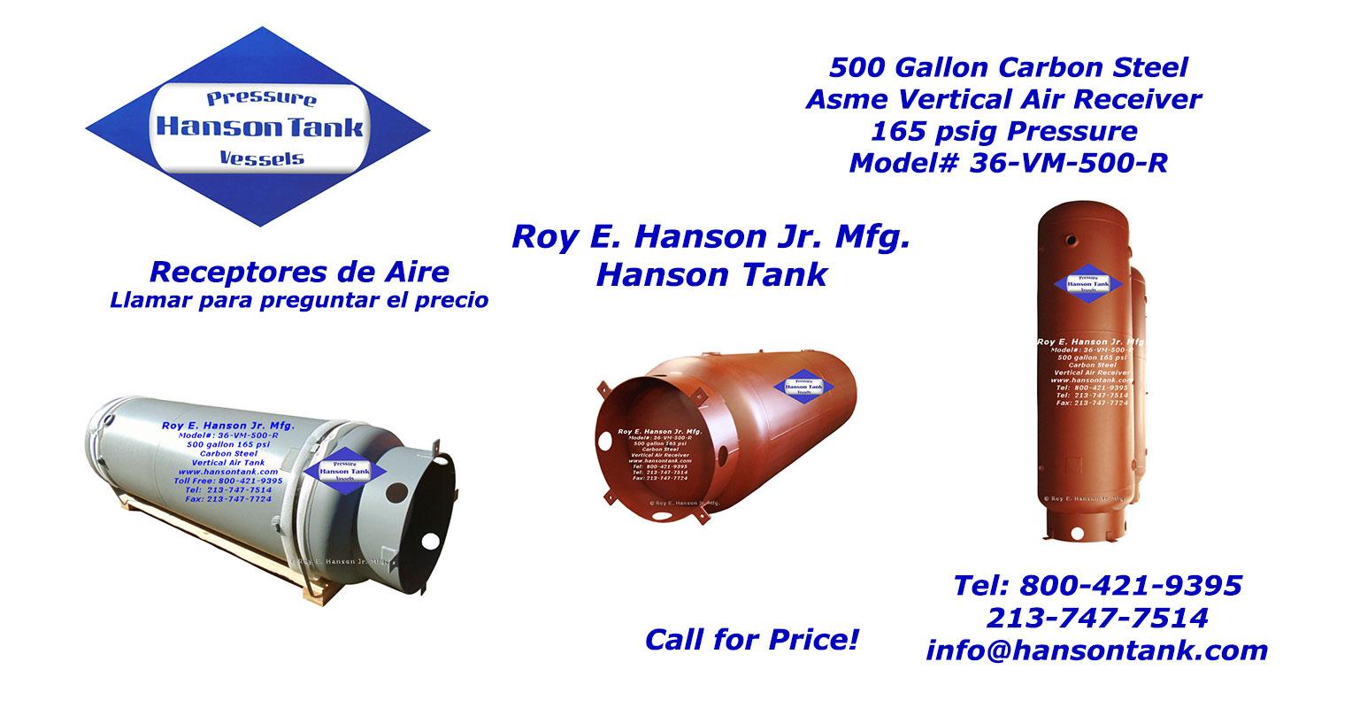 36-VM-500-R Receptore de Aire 500 galones