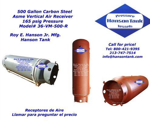 36vm500r 500 gallon vertical air receiver
