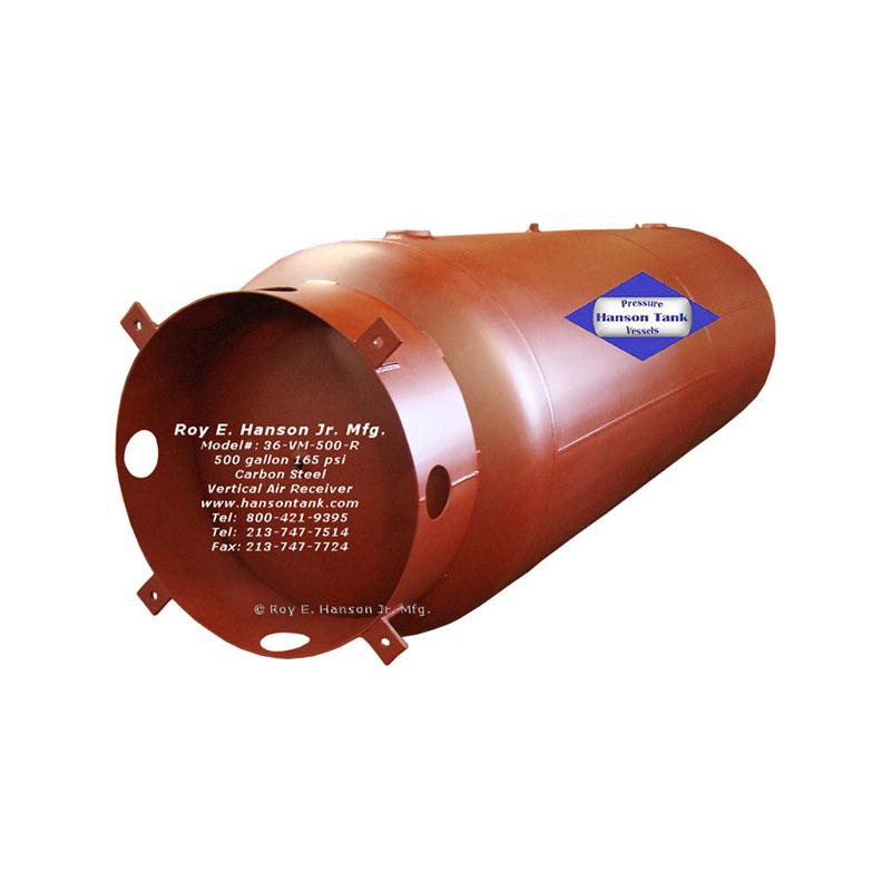 36-VM-500-R unlined air storage tank