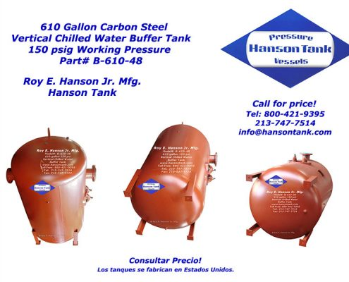 B-610-48 610 Gallon Buffer Tank