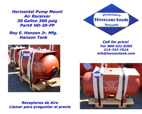 hd-30-fp horizontal pump mount air receiver