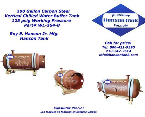 wl-264-b 200 gallon chilled buffer tank cwb