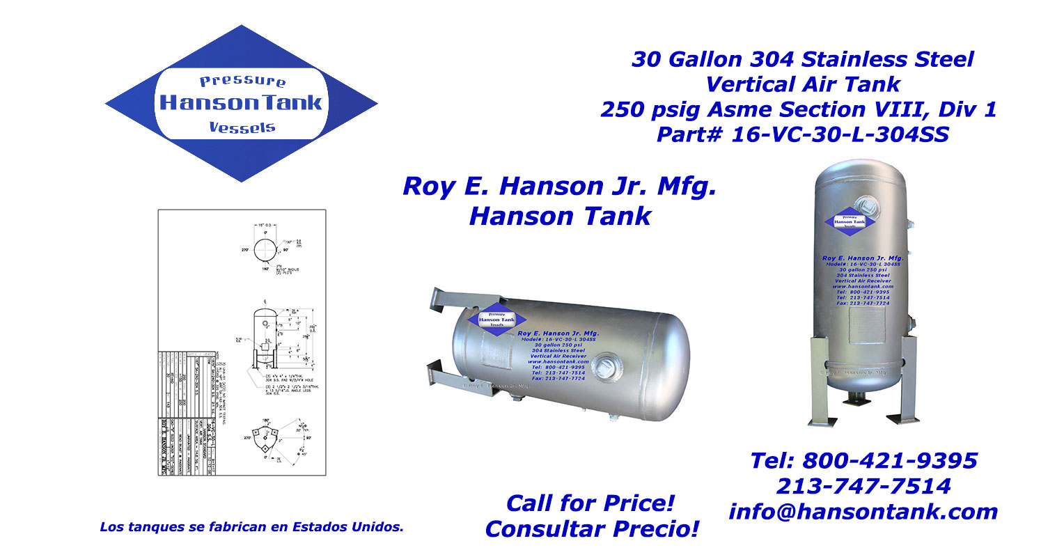 16-vc-30-l-304 stainless steel tank