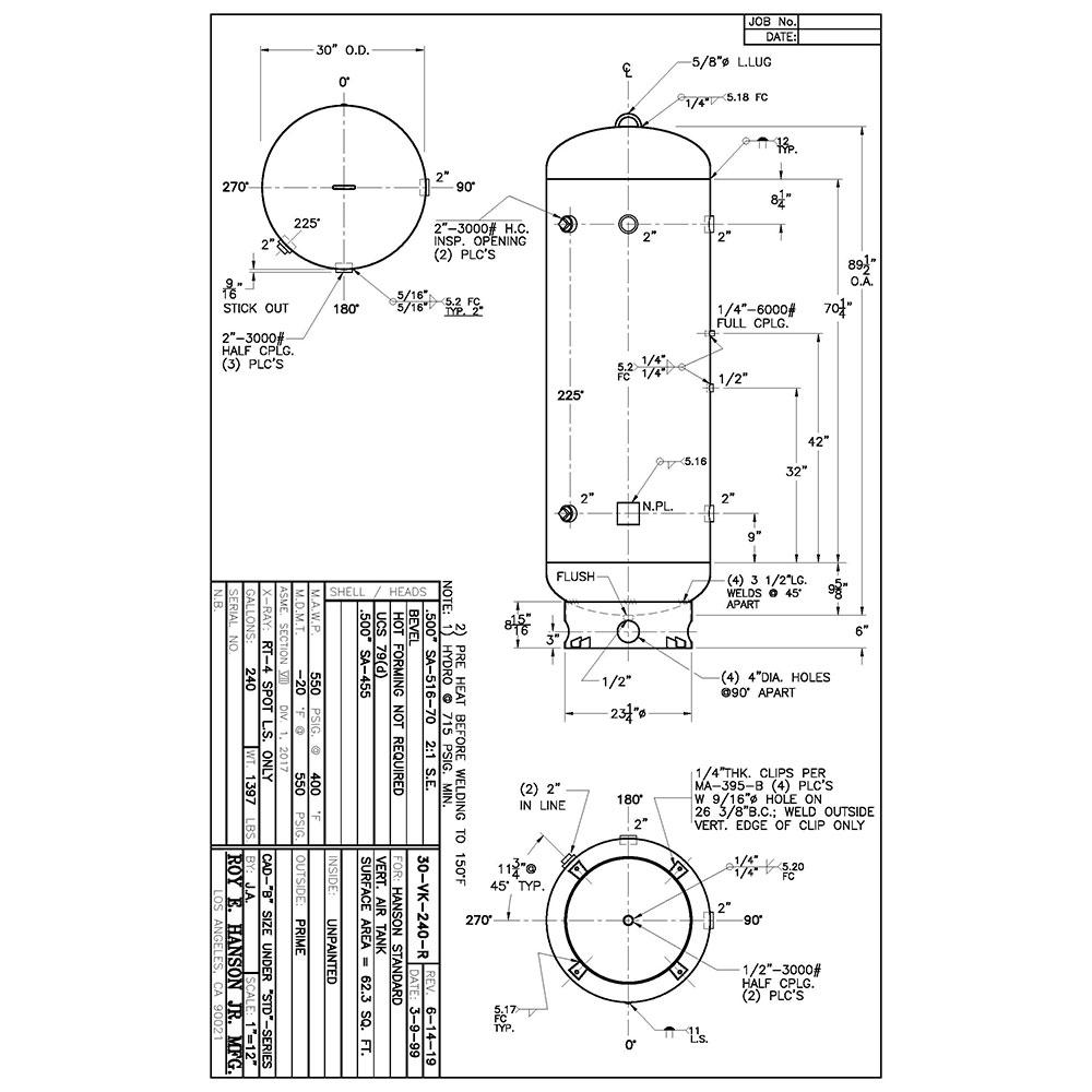 30-vk-240-r 240 gallon vertical air receiver