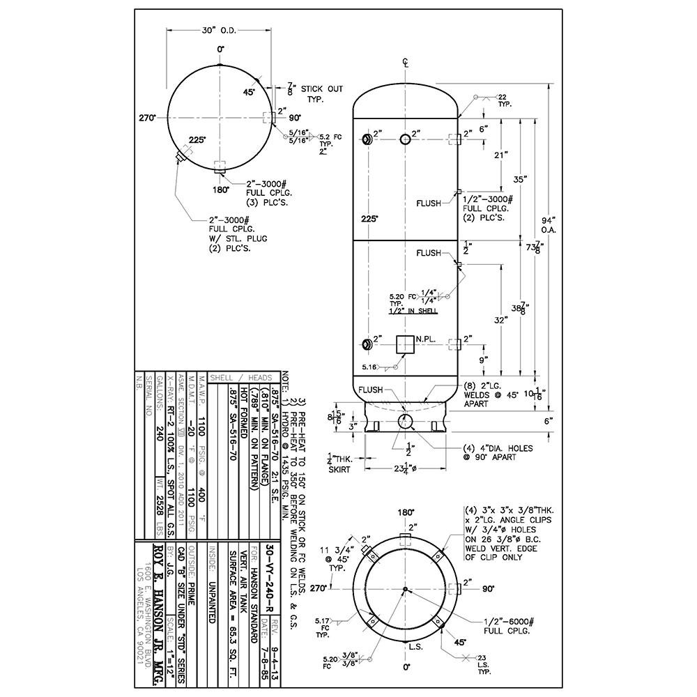 30-vy-240-r 240 gallon vertical air receiver