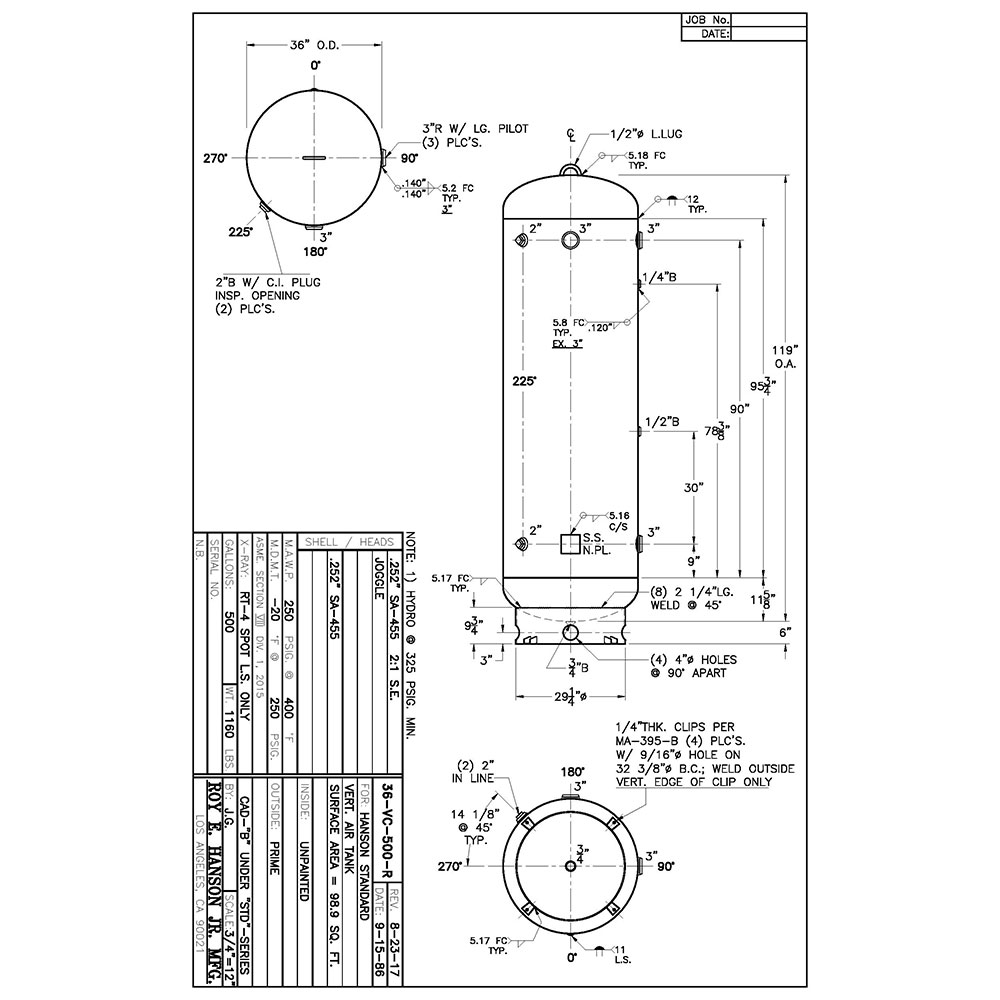 36-vq-300-r 300 gallon vertical air receiver