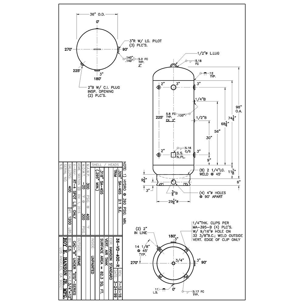 36-vd-400-r 400 gallon vertical air receiver