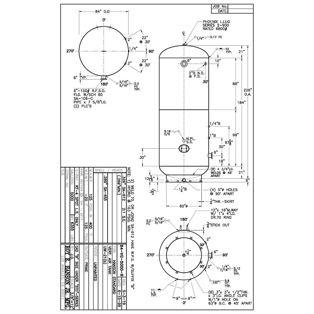 84-vg-5000-r 5000 gallon vertical air receiver