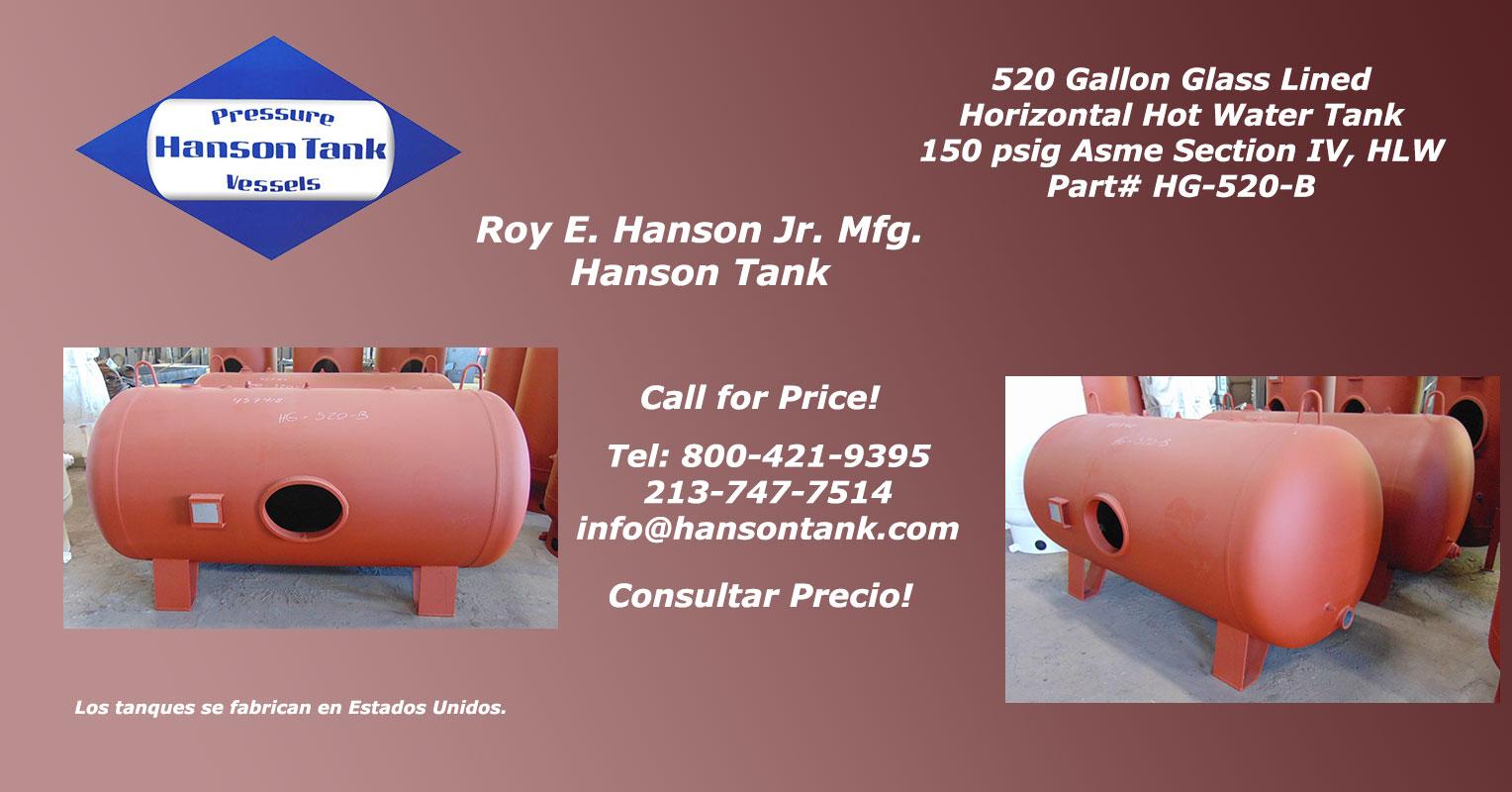 HG520B tanques de agua caliente