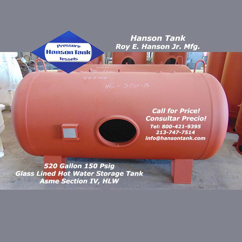 HG-520-B horizontal hot water storage tank