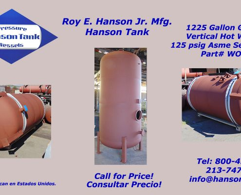wo240b 1200 gallon hot water tank