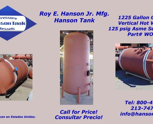 wo240b 1200 gallon hot water tank