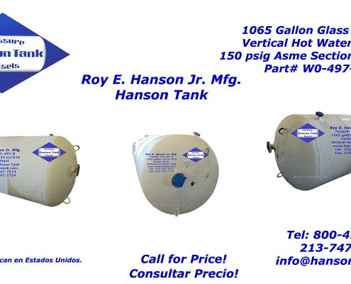 wo497b 1000 gallon hot water tank