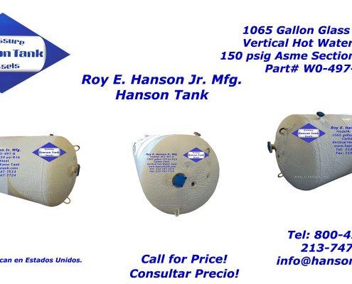 wo497b 1000 gallon hot water tank
