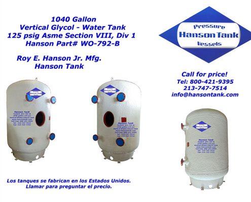 wo792b 1000 gallon water-glycol tank