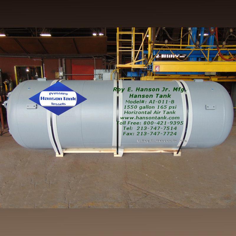 1500 gallon horizontal air receiver AI-011-B