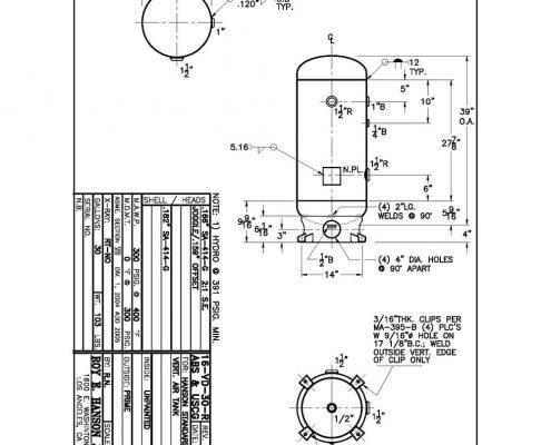 16-v-30-r abs uscg 300 psig pressure vessel