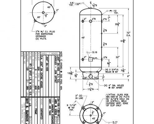 24va130r abs uscg tank specs 130 gallon 200 psig vertical air receiver