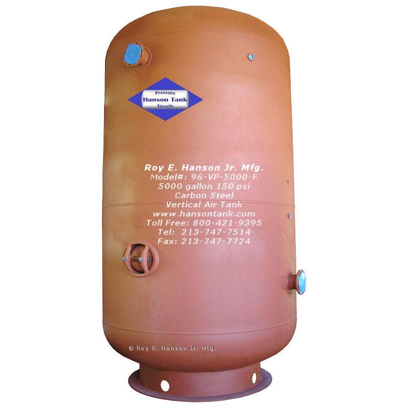vertical air receiver 5000 gallon 96-VP-5000-F