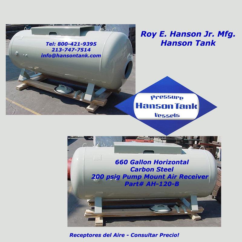 receptores del aire Tanques de Hanson AH-120-B