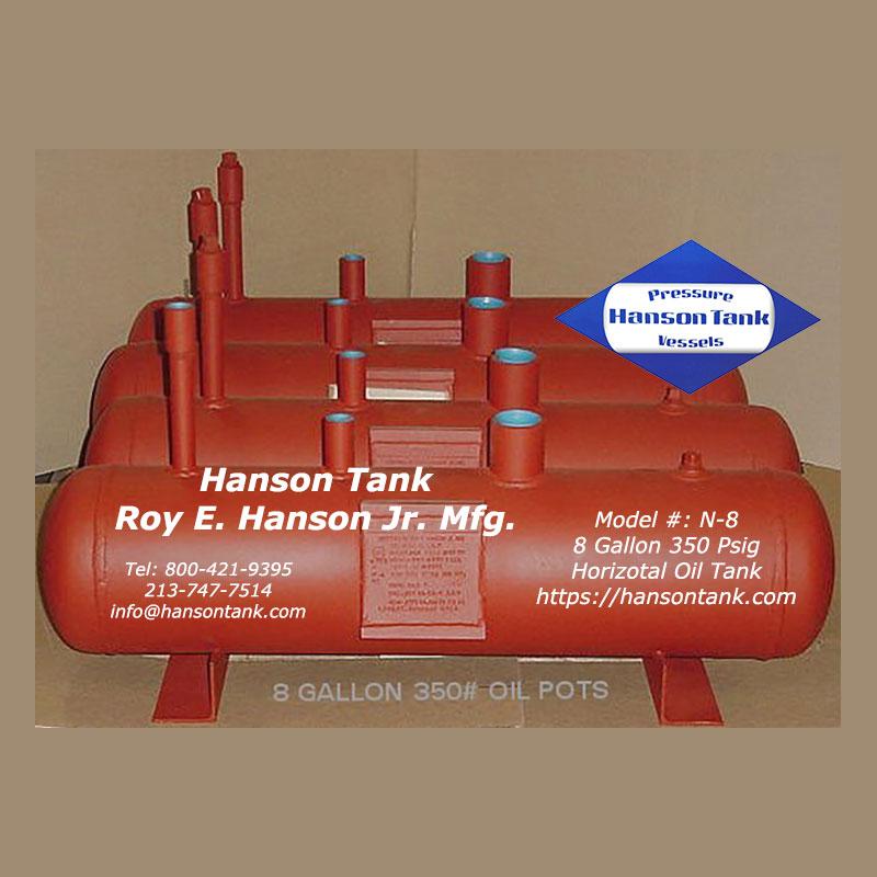 n-8 horizontal oil tank