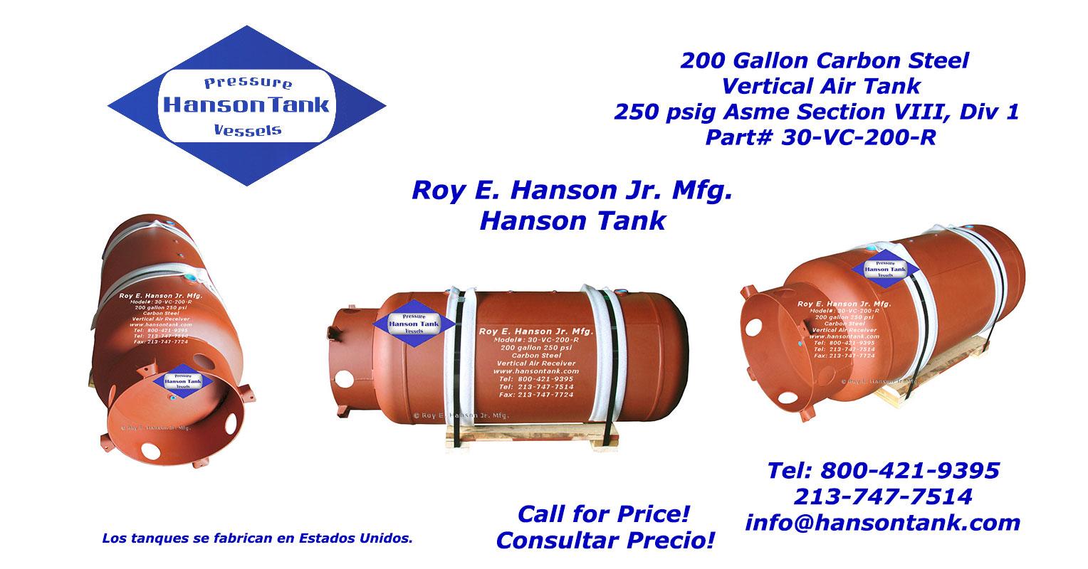 30-VC-200-R Receptor de aire de 200 galones