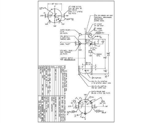 b-240-30 asme drawing 240 gallon buffer ttank