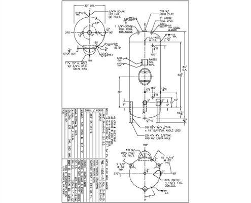 wl-106-b 235 gallon vertical glass lined hot water tank