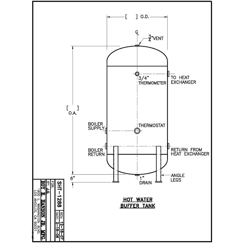 Hanson Chilled Water Buffer Tank