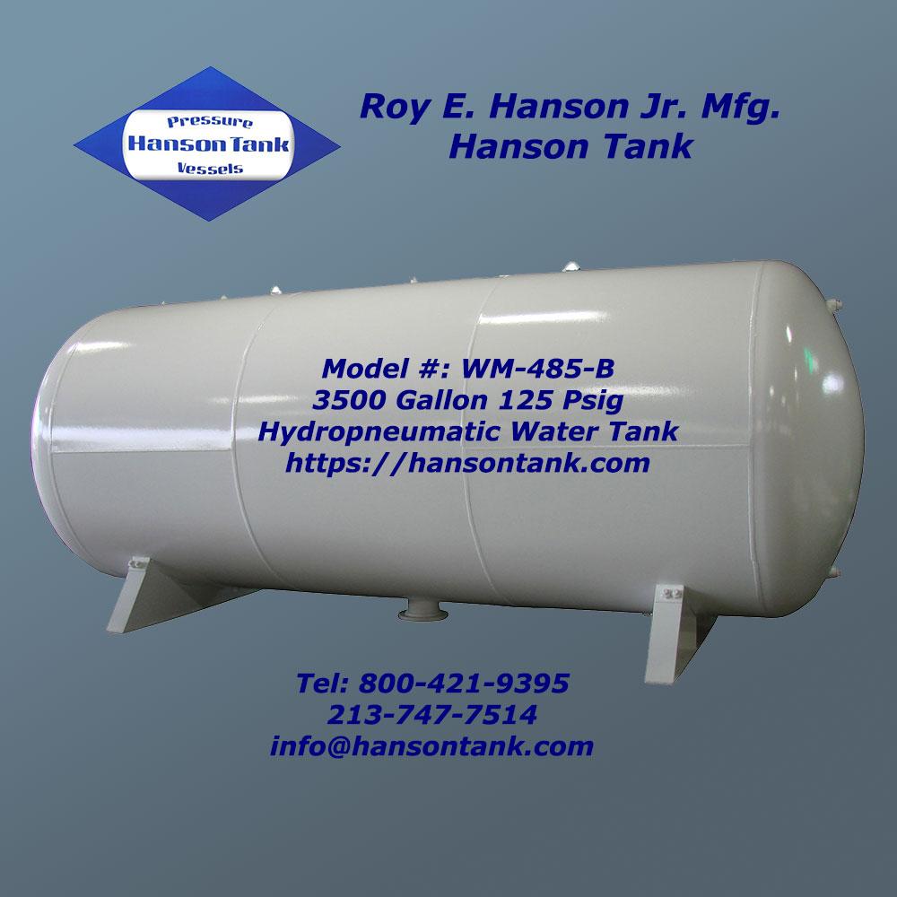WM-485-B hydropneumatic tank