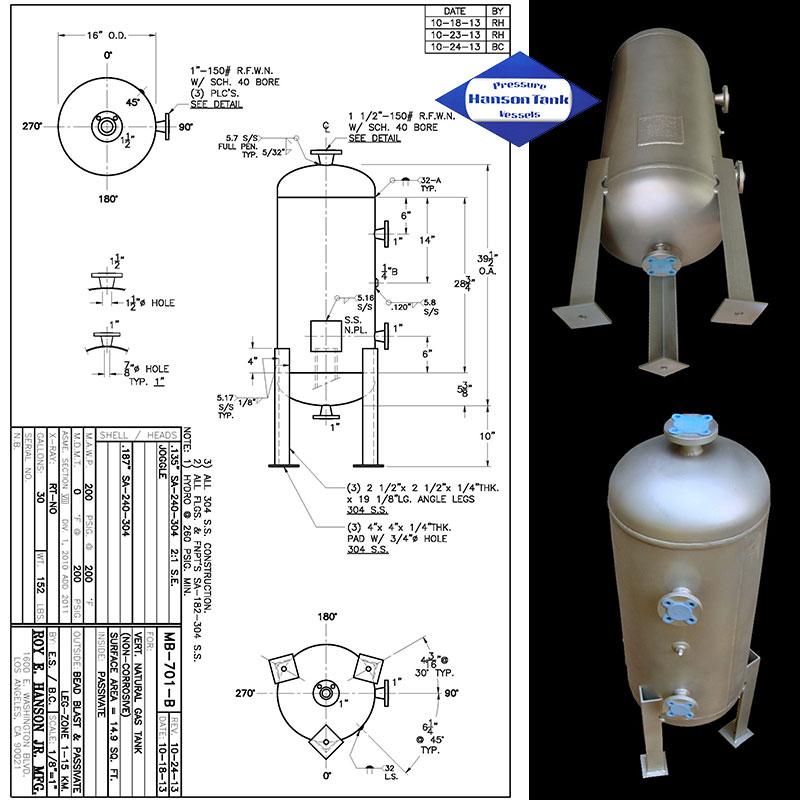 MB-701-B Tanque de almacenamiento de gas natural