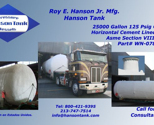 25000 gallon water tank