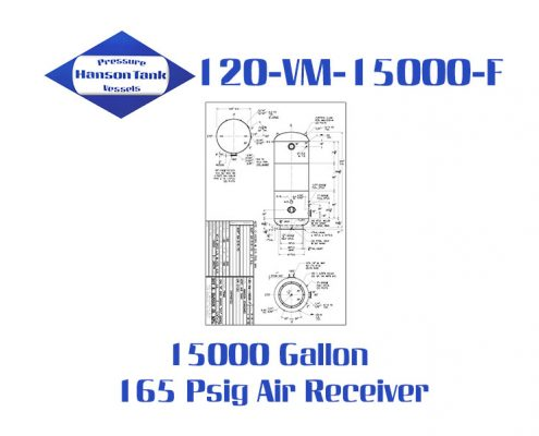 "120-VM-15000-F 120"" Diameter Industrial Air Receiver"