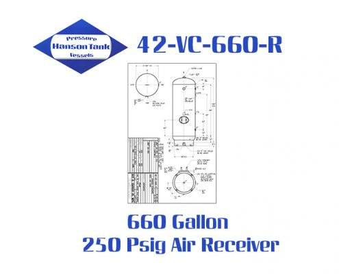 42-VC-660-R 250 Psig Vertical Air Receiver