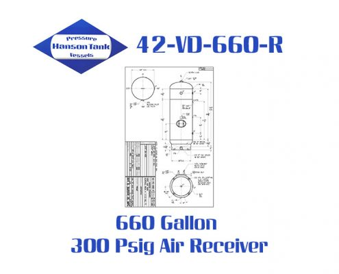 42-VD-660-R 300 Psig Vertical Air Receiver