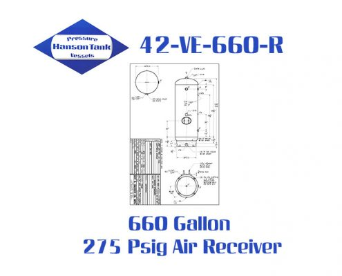42-VE-660-R 275 Psig Vertical Air Receiver