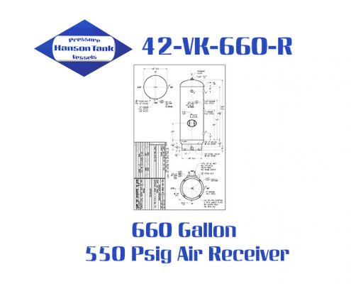 42-VK-660-R 550 Psig Vertical Air Receiver