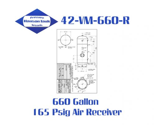 42-VM-660-R 165 Psig Vertical Air Receiver