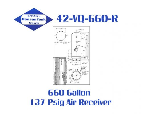 42-VQ-660-R 137 Psig Vertical Air Receiver