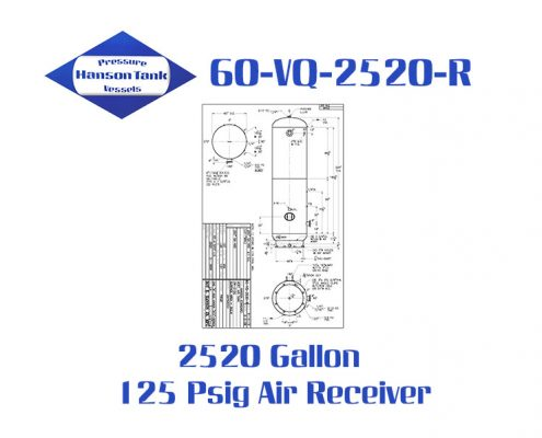 60-VQ-2520-R Industrial 2520 Gallon Air Receiver