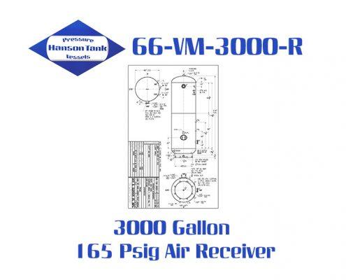 66-VM-3000-R 165 Psig Vertical Air Receiver