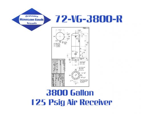 72-VQ-3800-R 3800 Gallon Asme Air Receiver