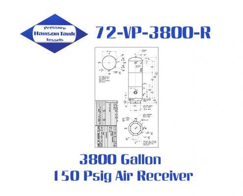 72-VP-3800-R 3800 Gallon Vertical Air Receiver