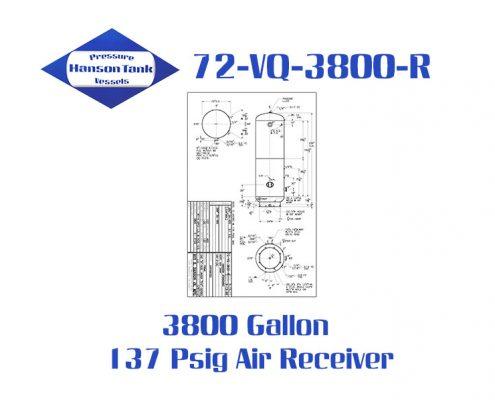 72-VQ-3800-R 137 Psig Vertical Air Receiver