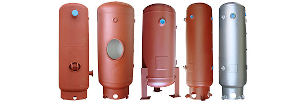 vertical air storage tank with ring base