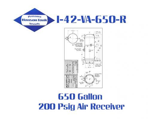 I-42-VA-650-R Vertical Galvanized Air Receiver