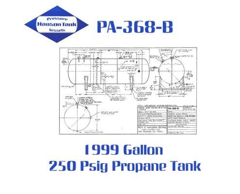 PA-368-B Horizontal Propane Dispenser Tank