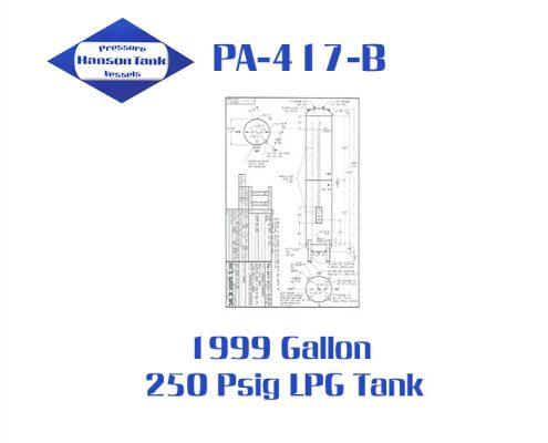 pa-417-b 1999 gallon lpg tank